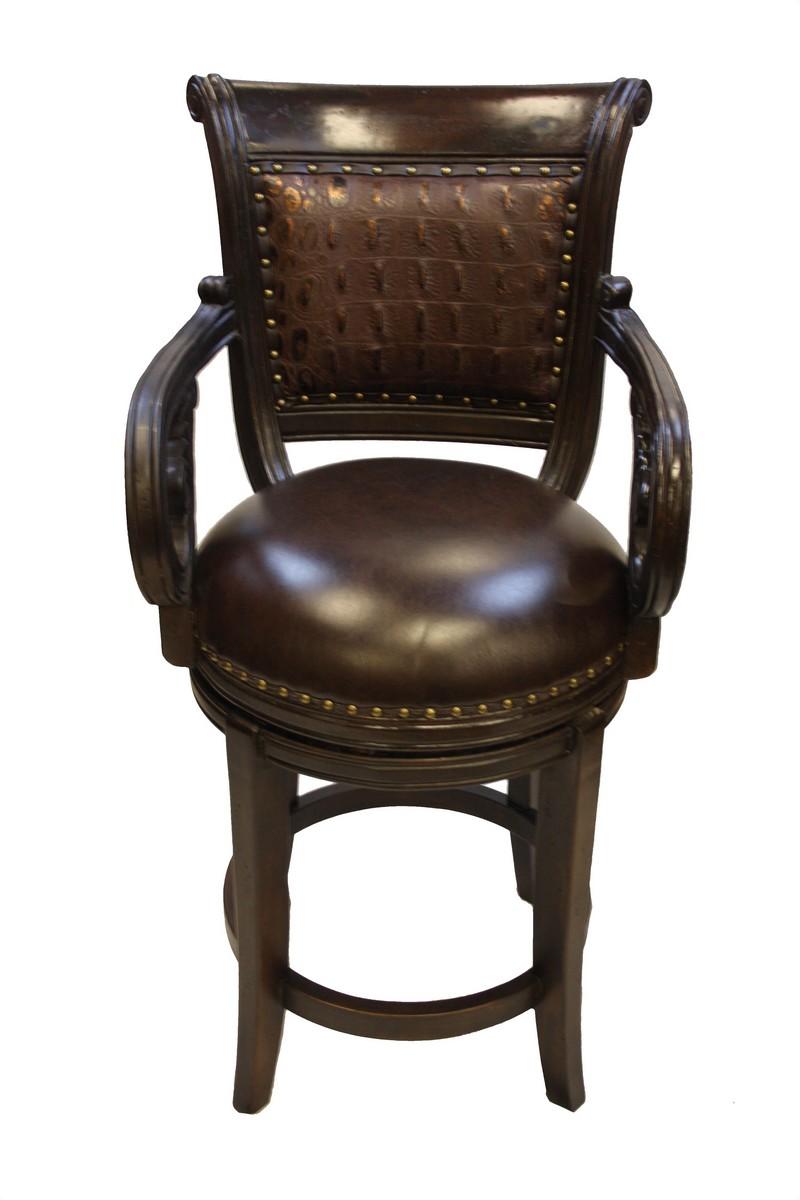 Bethany Barstool Tooled Leather