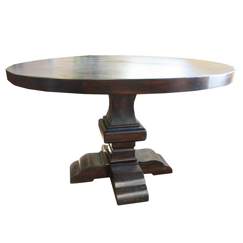 Compass Round Table Solid Wood
