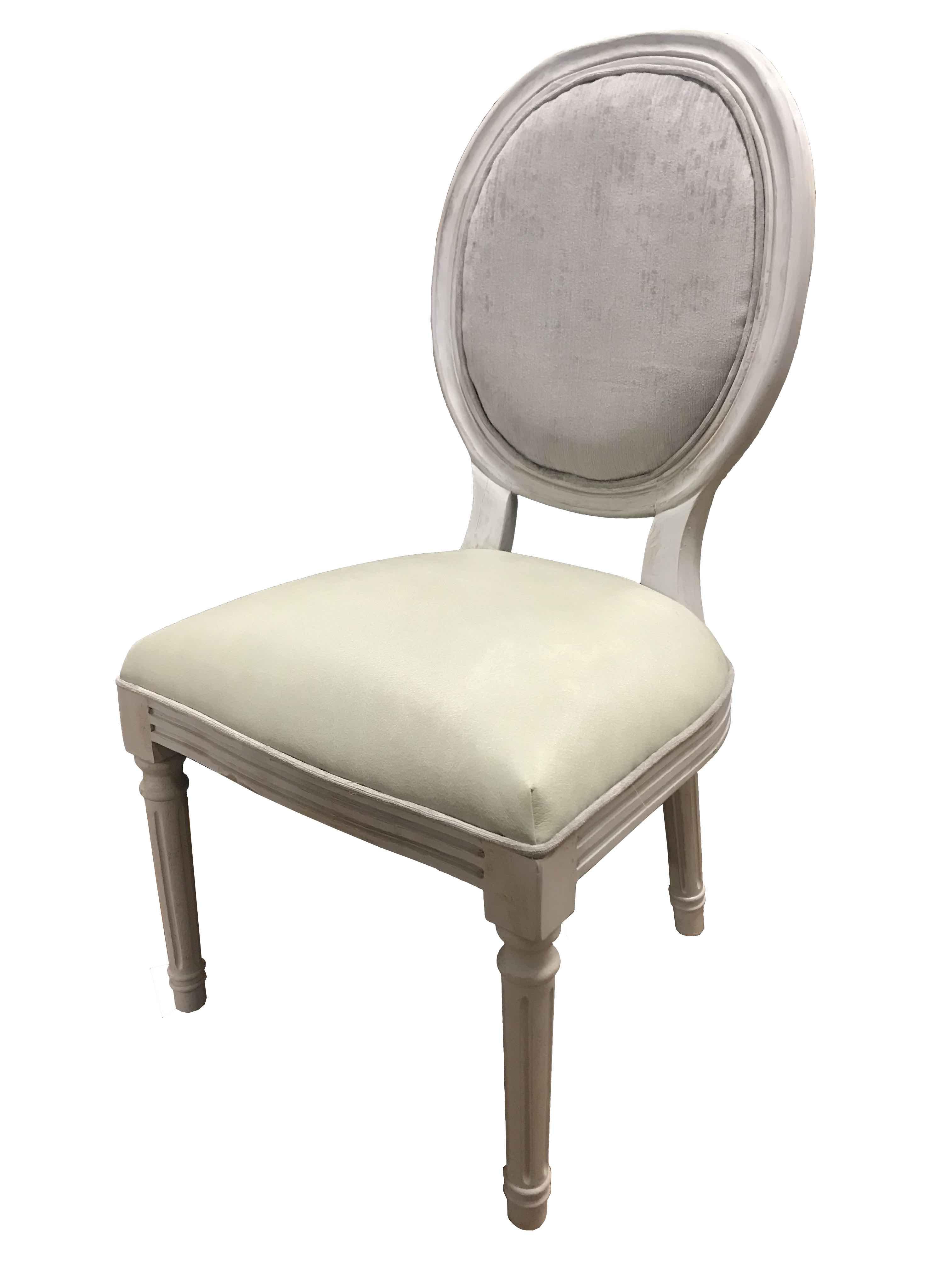 Rustic Medallion White Wash Chair