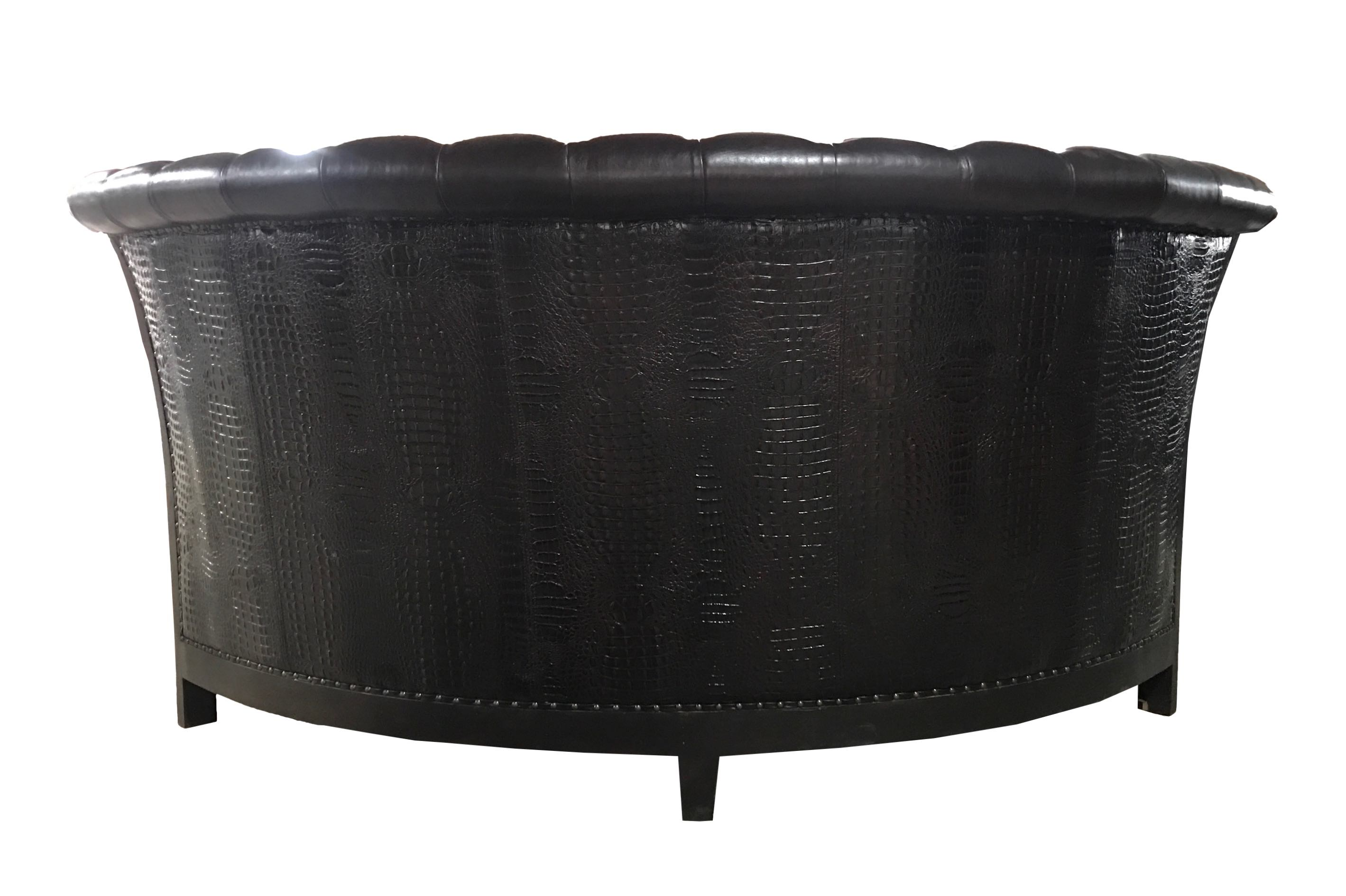 Tufted Round Banquette French Solid Wood