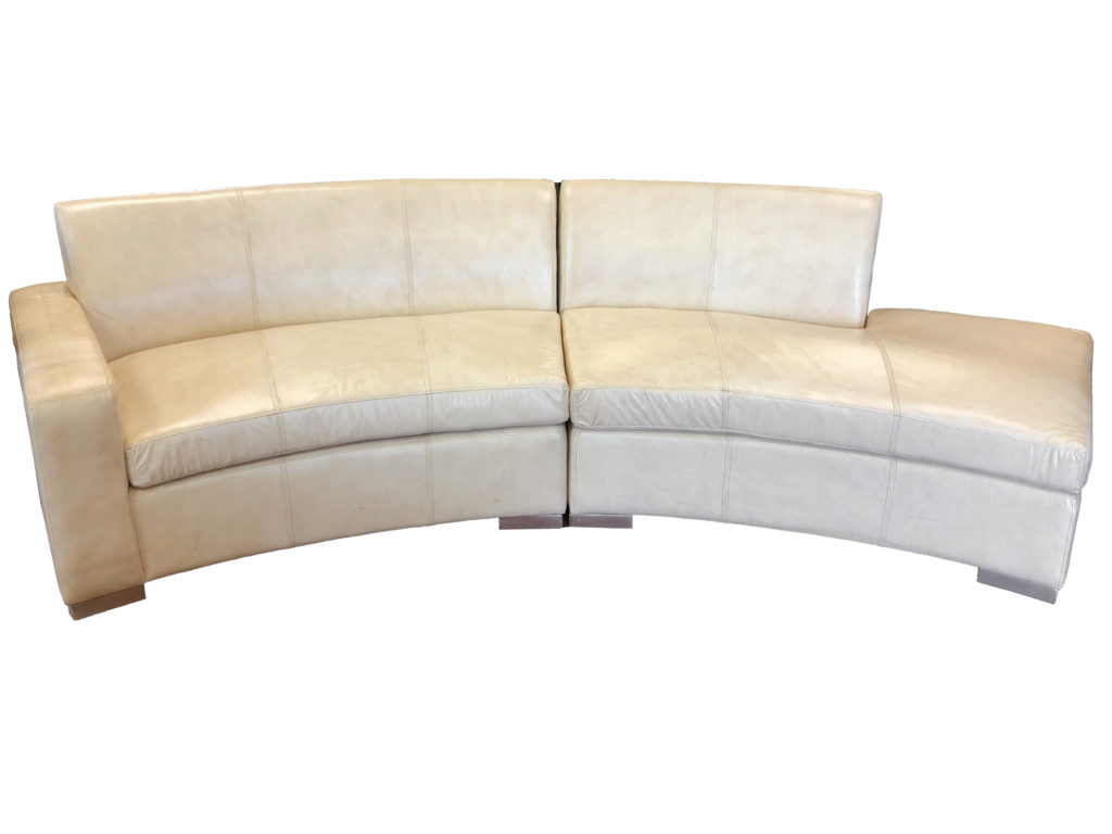 Culver Curved Sofa Cream Beige