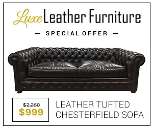 Tufted Leather Chesterfield Sofa Now Only 999